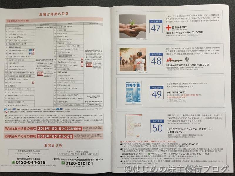 大和証券グループ本社株主優待品カタログ11