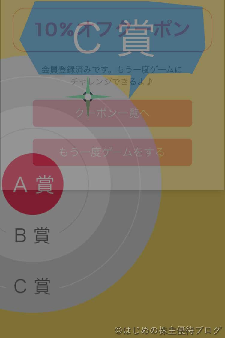 マツキヨアプリゲームC賞
