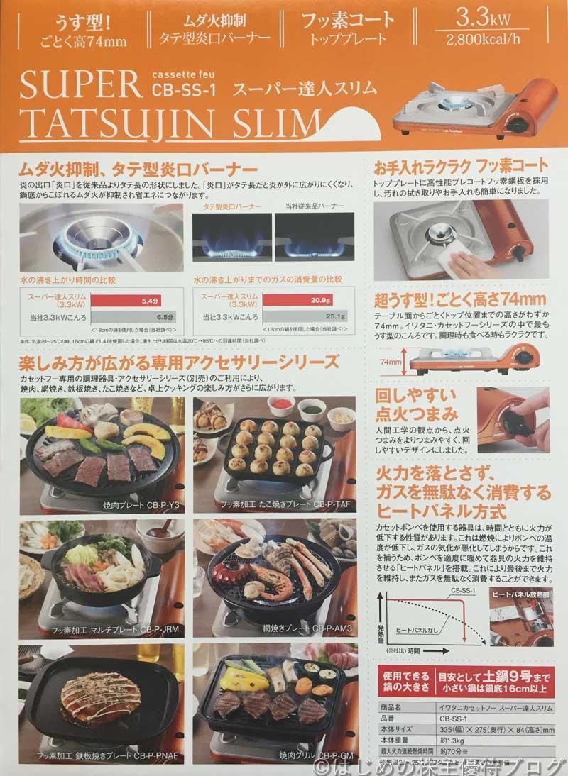 トラスコ中山株主優待スリムカセットコンロCB-SS-1説明