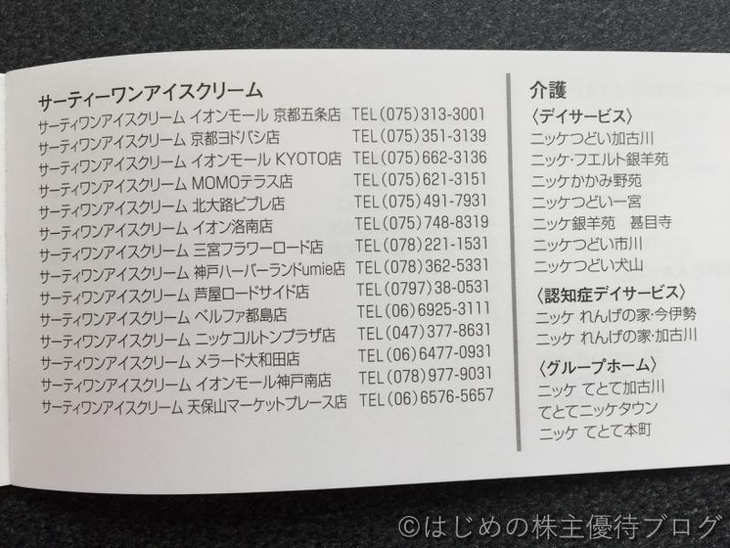 ニッケ株主優待対象店舗リスト3