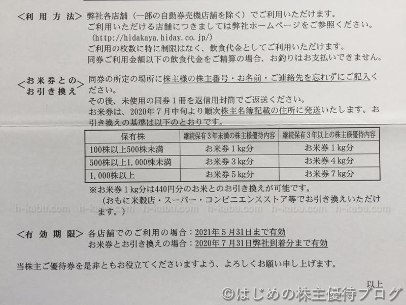 ハイデイ日高株主優待利用方法