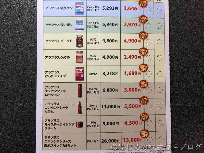 SBIホールディングス株主優待サプリメント購入価格