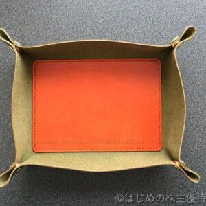 タキヒヨー株主優待栃木レザーデスクトレイ