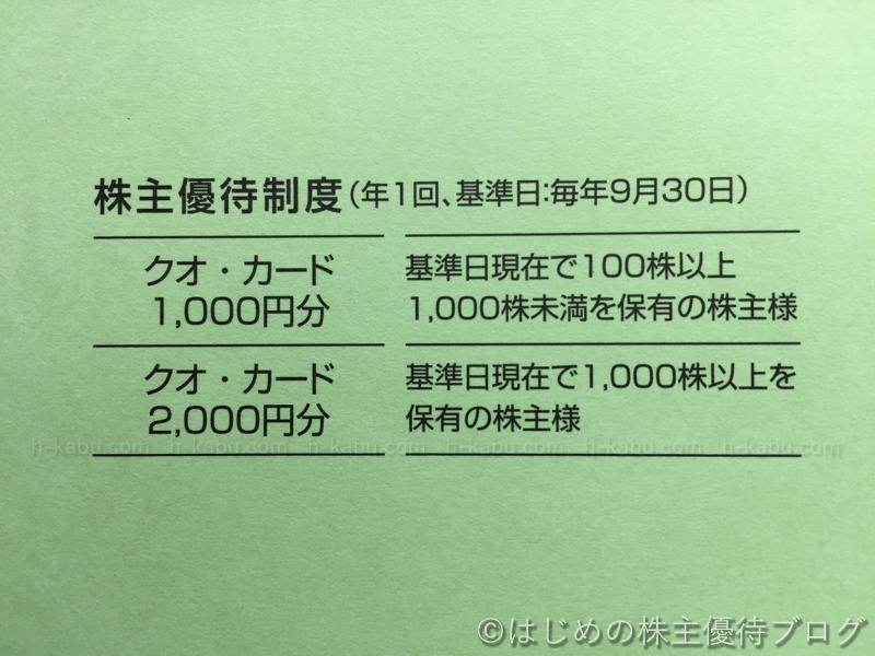 ソネック株主優待贈呈内容