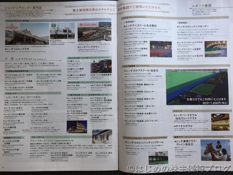 日本毛織株主優待割引券利用可能施設