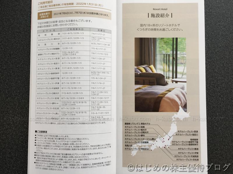 東急不動産株主優待リゾートホテル一覧